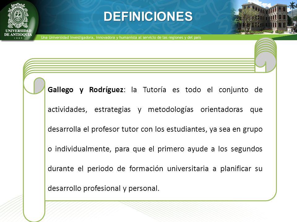 DEFINICIONES Según Artigot el tutor es un experto cuya principal misión es la de ocuparse de la integración de sus alumnos en lo que se refiere a su e