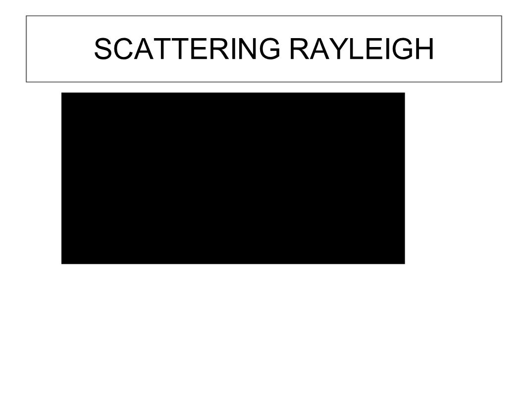SCATTERING RAYLEIGH