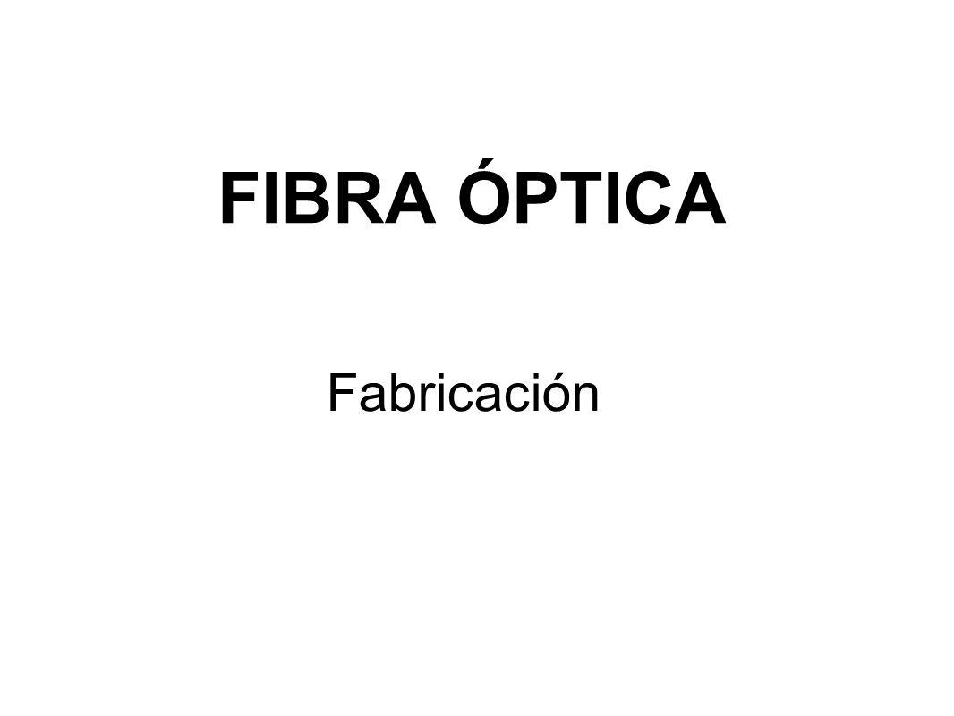 FIBRA ÓPTICA Fabricación