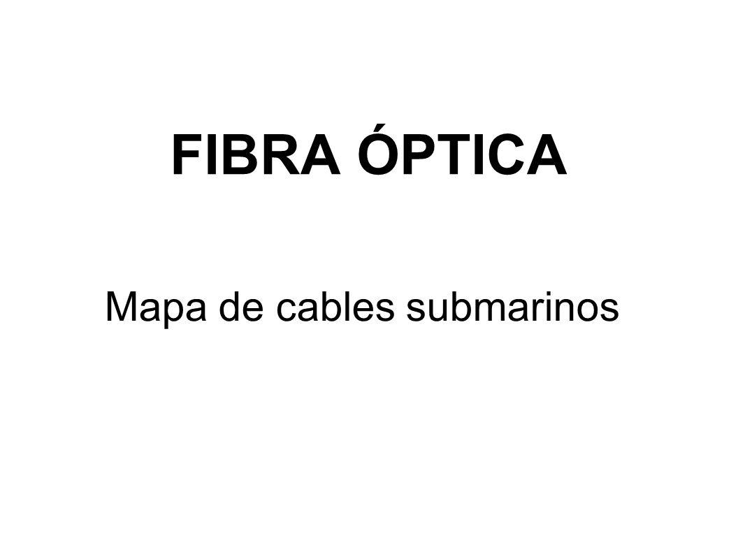 FIBRA ÓPTICA Mapa de cables submarinos