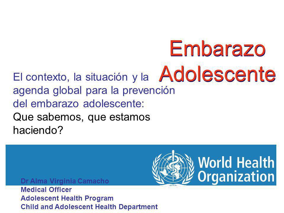 Embarazo Adolescente 1.Que entendemos por adolescencia.