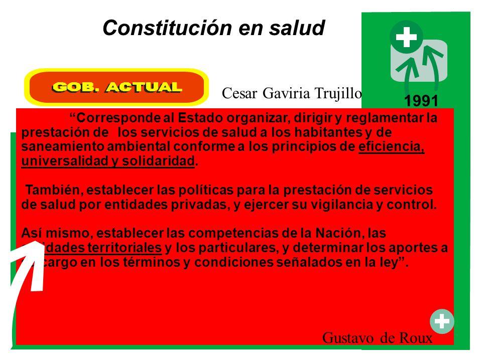 Corresponde al Estado organizar, dirigir y reglamentar la prestación de los servicios de salud a los habitantes y de saneamiento ambiental conforme a