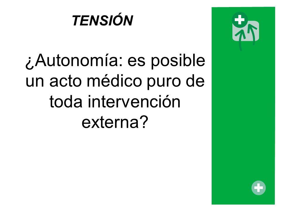 ¿Autonomía: es posible un acto médico puro de toda intervención externa? TENSIÓN