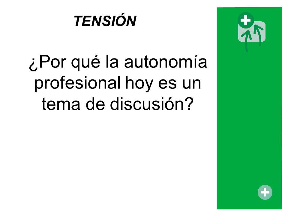 ¿Por qué la autonomía profesional hoy es un tema de discusión? TENSIÓN