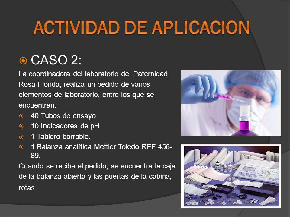 CASO 3: En la Auditoria de Certificación al Laboratorio de Microbiología, el día 24 de marzo de 2009 se detectó una No Conformidad Mayor, debido al incumplimiento del ítem ``7.6 Resultados de la calibración y la verificación del equipo ya que en el Programa de Mantenimiento y Calibración de Equipos`` la cabina de flujo laminar Labconco HH-017 debió haber sido calibrada el 15 de enero de 2009 y no se efectuó.