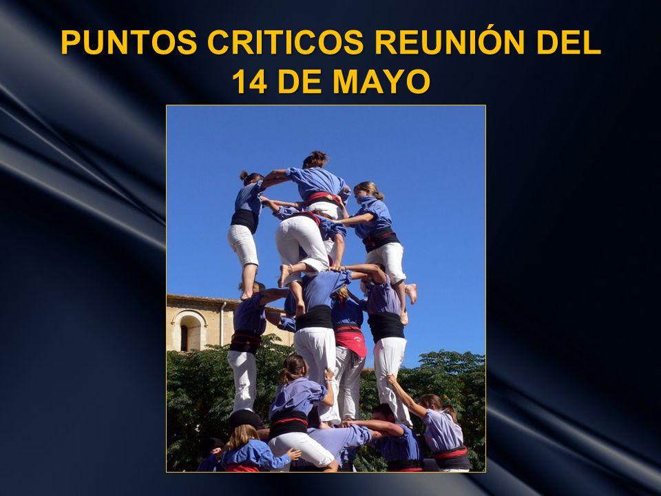 PUNTOS CRITICOS REUNIÓN DEL 14 DE MAYO