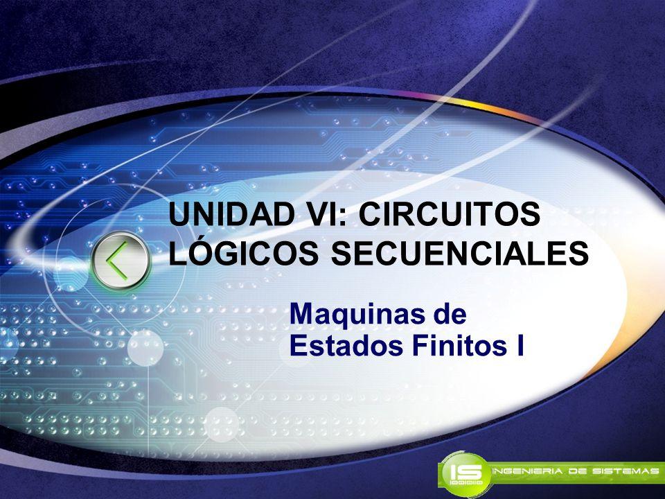 UNIDAD VI: CIRCUITOS LÓGICOS SECUENCIALES Maquinas de Estados Finitos I