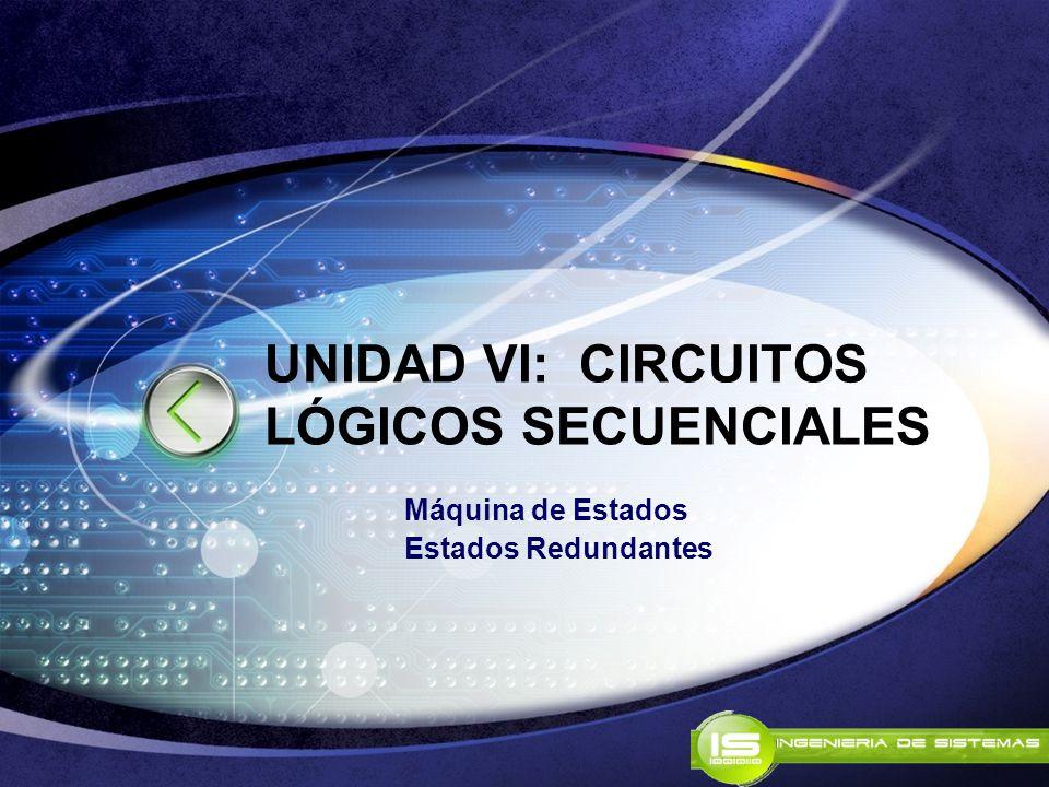 UNIDAD VI: CIRCUITOS LÓGICOS SECUENCIALES Máquina de Estados Estados Redundantes