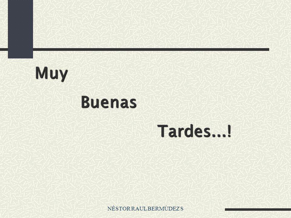 NÈSTOR RAUL BERMÙDEZ S Muy Buenas Buenas Tardes...! Tardes...!