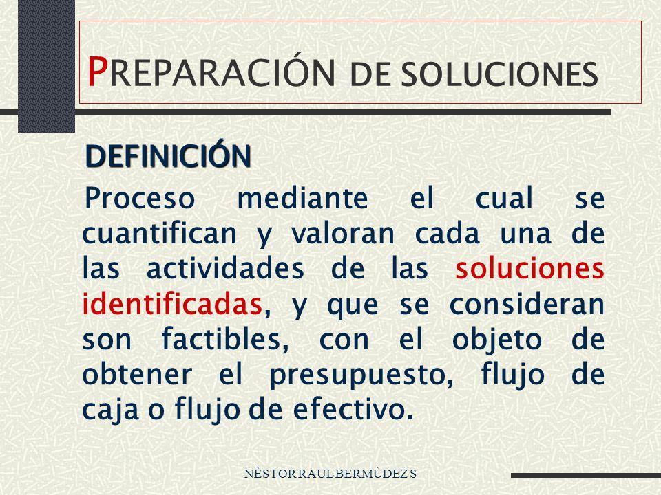 NÈSTOR RAUL BERMÙDEZ S P REPARACIÓN DE SOLUCIONES Principio básico Prepara el experto Zapatero a tu zapato
