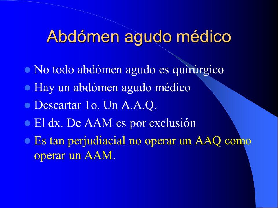 Abdómen agudo médico HIPOGASTRIO Colon descendente Colon sigmoides Recto