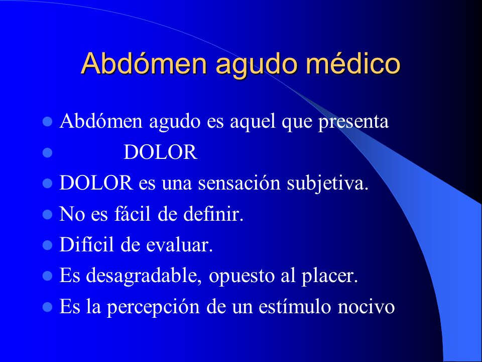 Abdomen Agudo Medico Dr. Jorge A. Prado Robles Año 2001