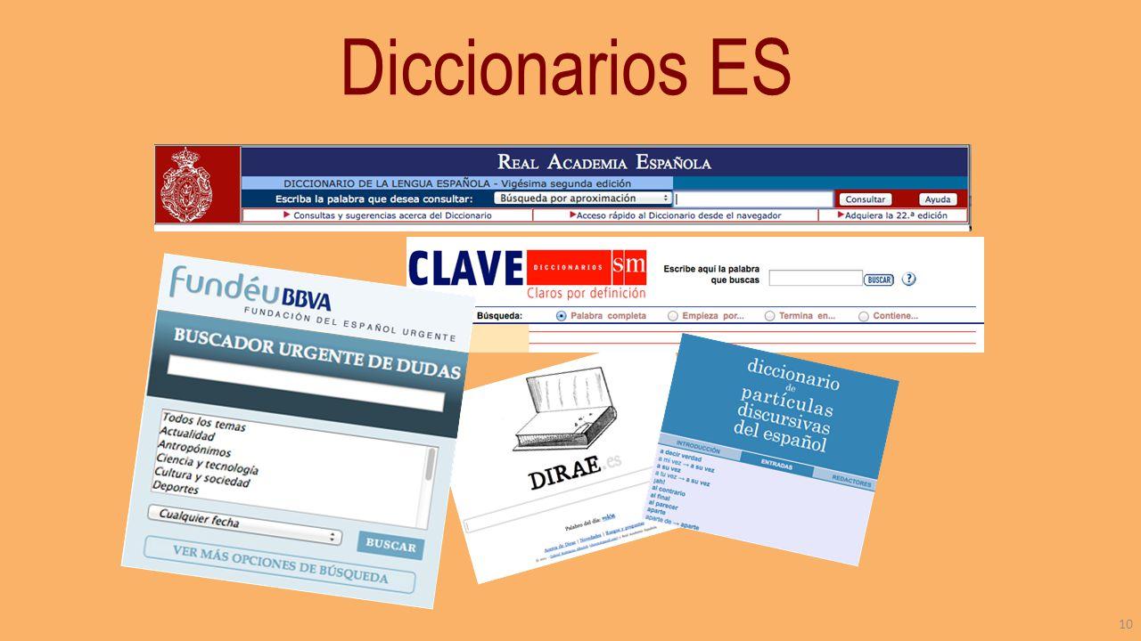 Diccionarios ES 10