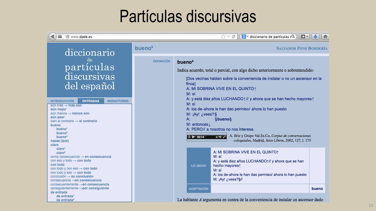 Partículas discursivas 13