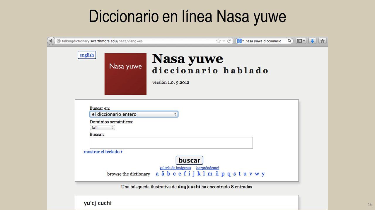 Diccionario en línea Nasa yuwe 16