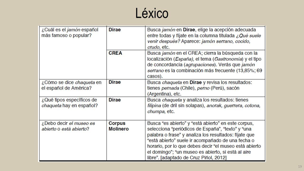 Léxico 19