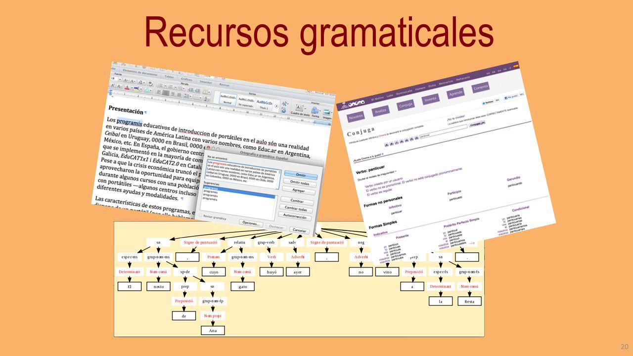 Recursos gramaticales 20
