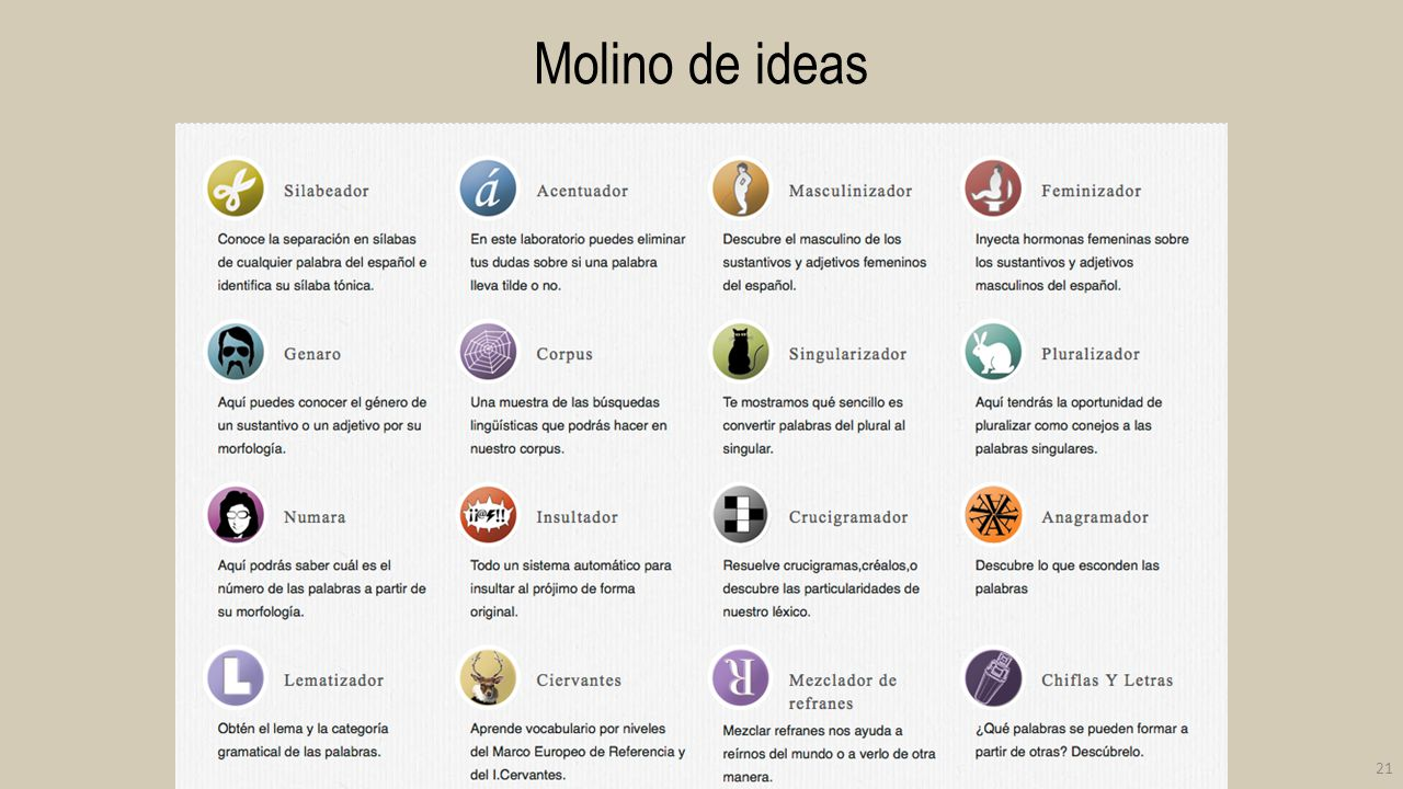 Molino de ideas 21