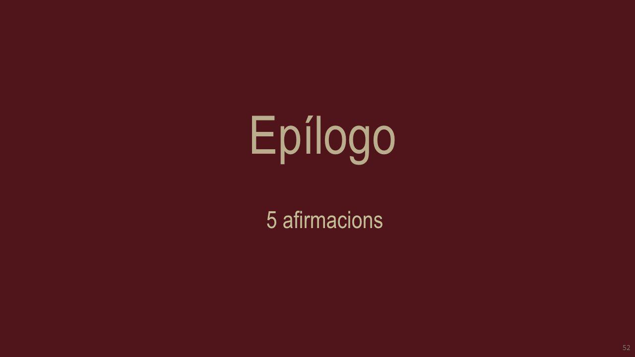 Epílogo 5 afirmacions 52