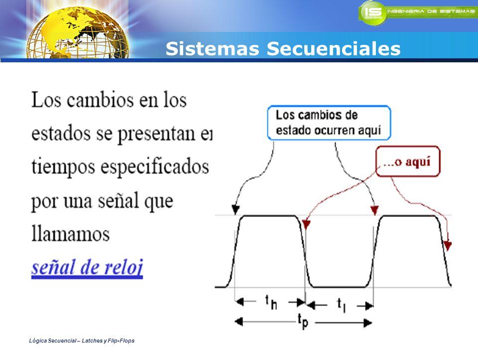 Sistemas Secuenciales Lógica Secuencial – Latches y Flip-Flops