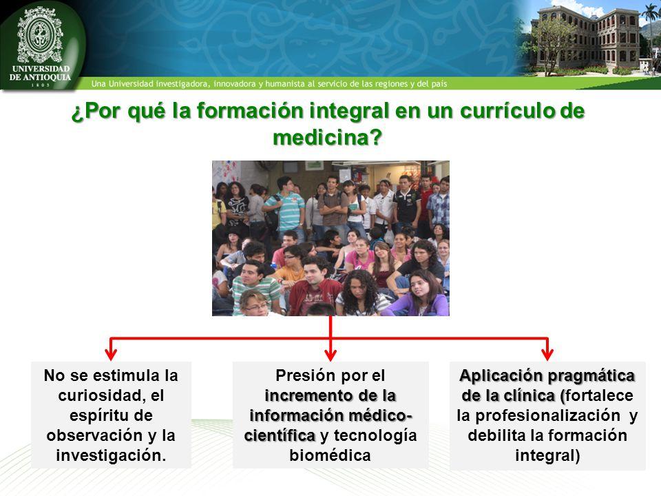 ¿Por qué la formación integral en un currículo de medicina.