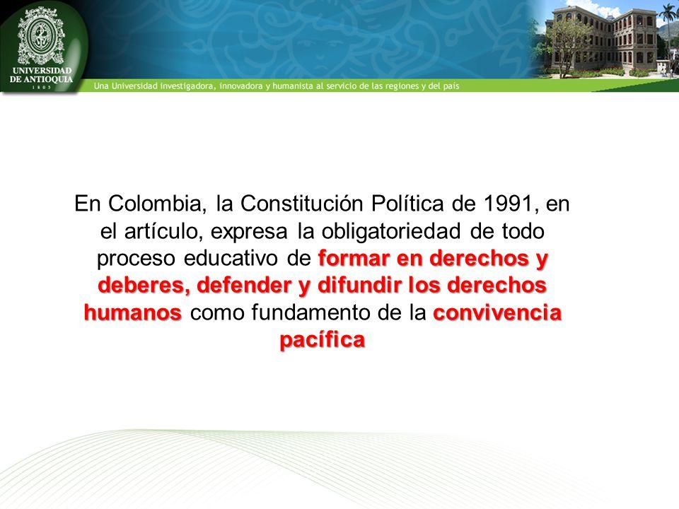principios orientadores Uno de los principios orientadores la cual se expresa en la formación científica, profesional, ética y política La Formación Integral en la Universidad de Antioquia Políticas para las reformas curriculares