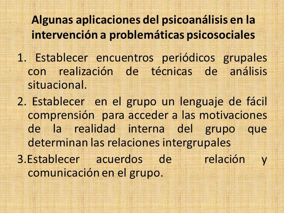 Algunas aplicaciones del psicoanálisis en la intervención a problemáticas psicosociales 1.