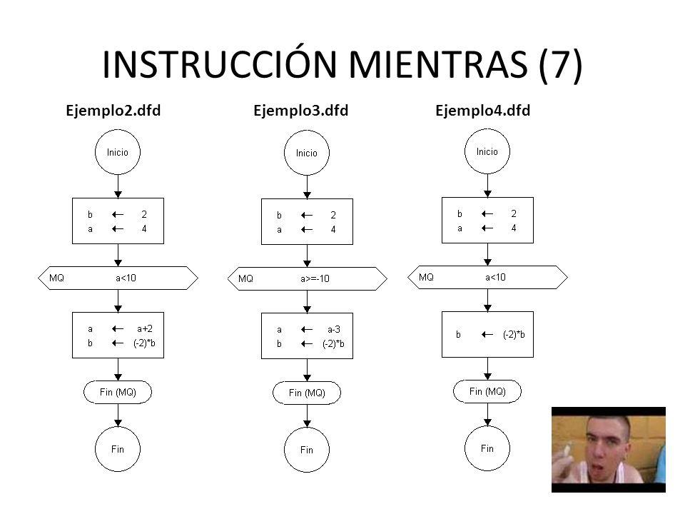 INSTRUCCIÓN MIENTRAS (7) Ejemplo2.dfdEjemplo3.dfdEjemplo4.dfd
