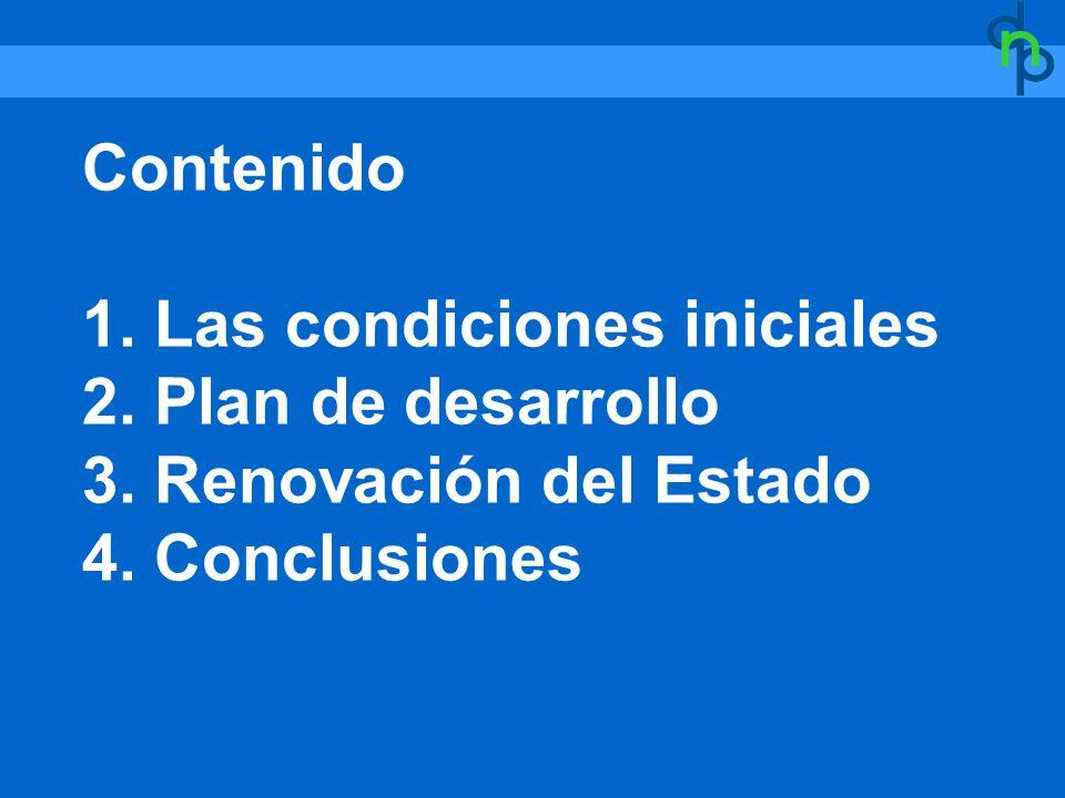 Contenido 1. Las condiciones iniciales 2. Plan de desarrollo 3.