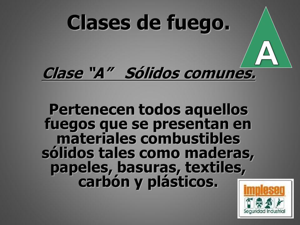 Clase B Líquidos y gases.