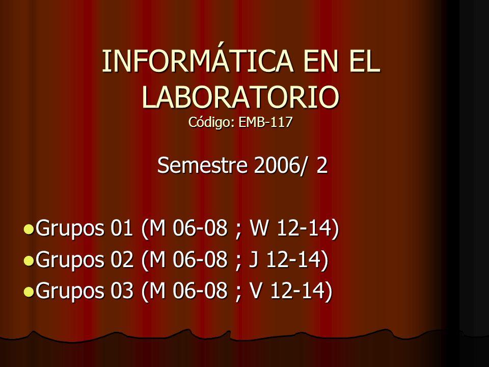 Informática en el laboratorio 2 Oct.