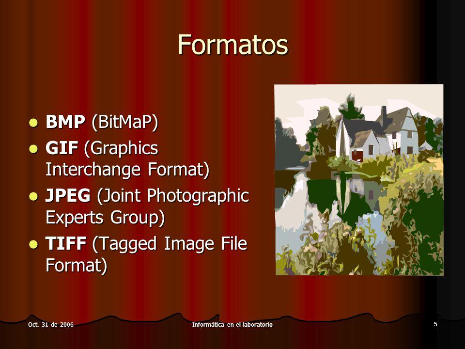 Informática en el laboratorio 6 Oct.31 de 2006 Técnicas básicas ¿Para donde va mi imagen.