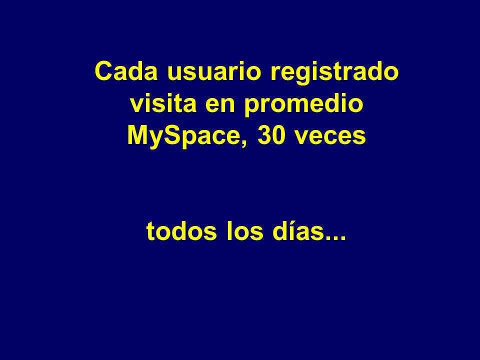 Si MySpace fuera un país, tendría más habitantes que muchos de los países del planeta.