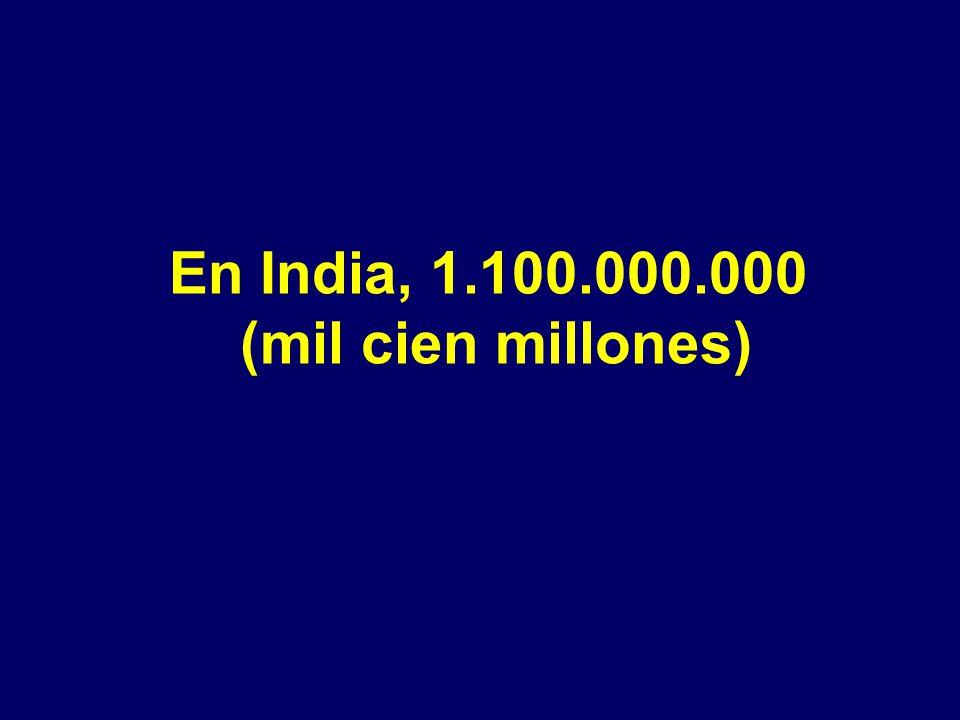 En China hay 1.300.000.000 (mil trecientos millones) de personas como nosotros