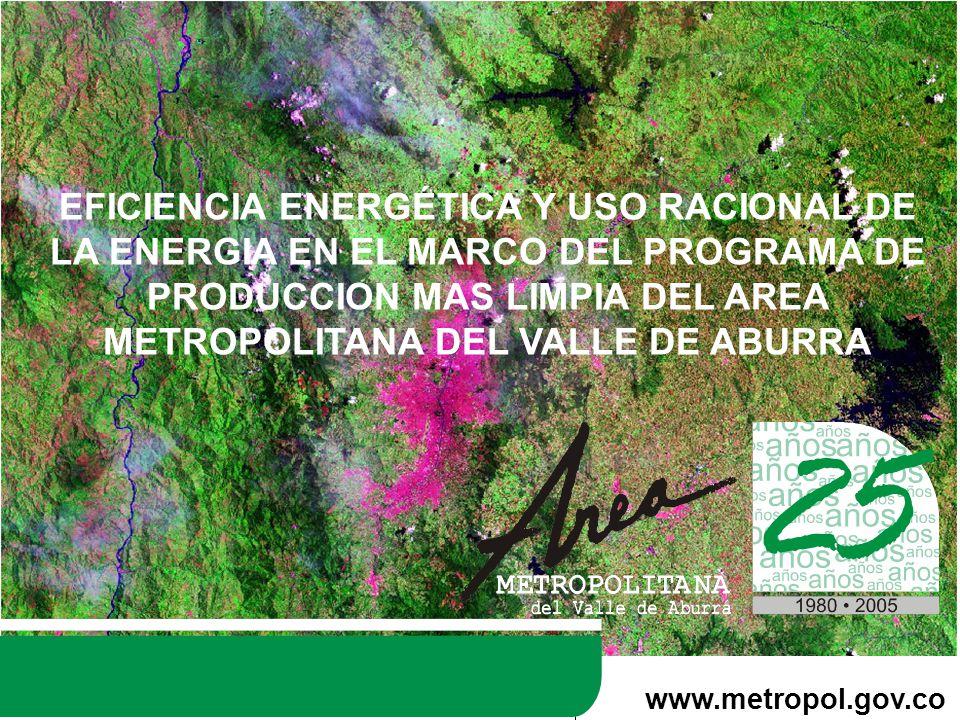 EFICIENCIA ENERGÉTICA Y USO RACIONAL DE LA ENERGIA EN EL MARCO DEL PROGRAMA DE PRODUCCION MAS LIMPIA DEL AREA METROPOLITANA DEL VALLE DE ABURRA www.metropol.gov.co