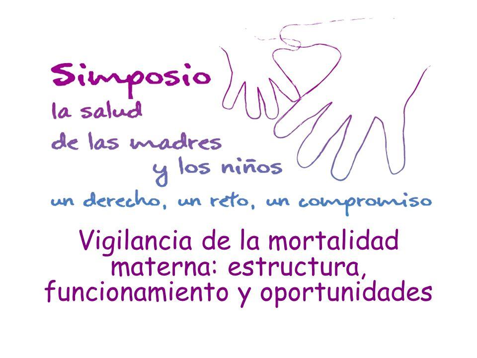Vigilancia de la mortalidad materna: estructura, funcionamiento y oportunidades