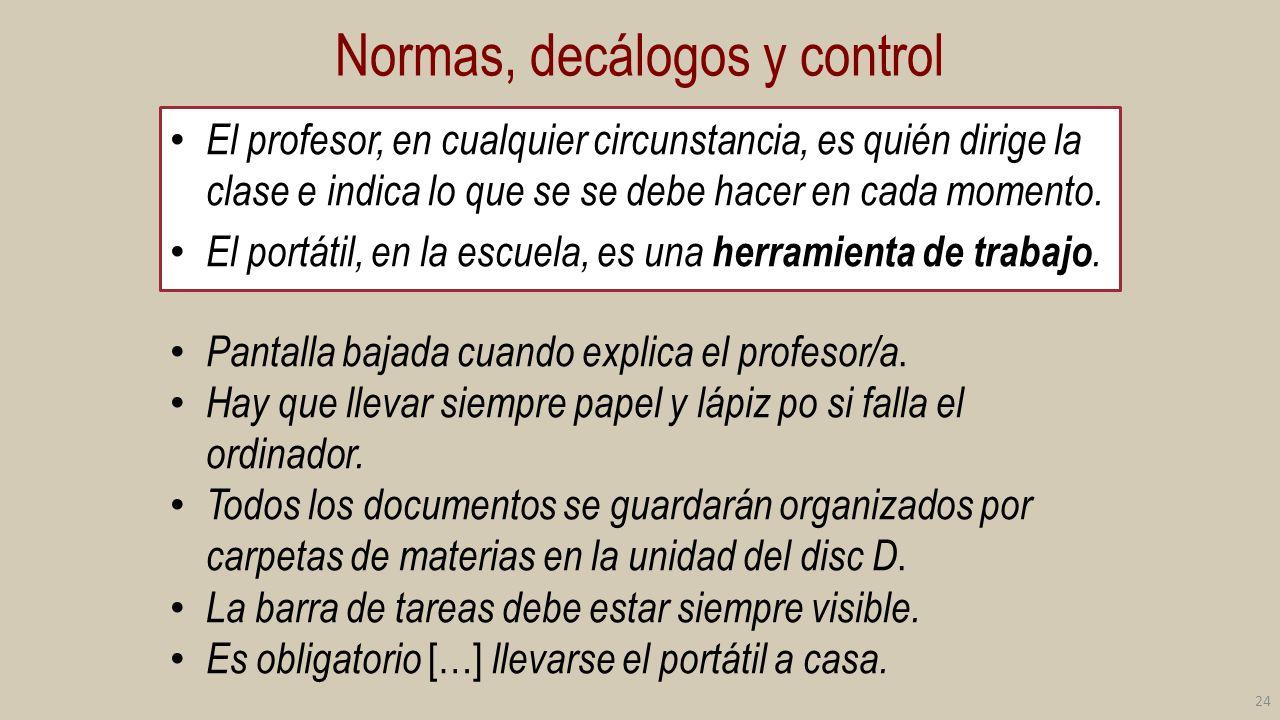 Rasgos comunes de las normas Conservación : golpes, funda, accesorios (auriculares, ratón, funda), tunear o no, archivos de ficheros.
