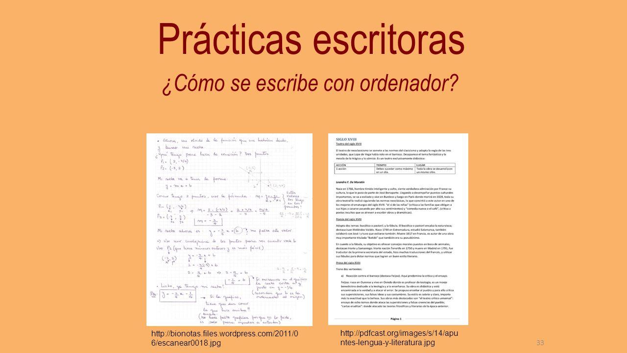 Tomar apuntes Hay situaciones muy diversas : – Centros con protocolos de uso del portátil y formación en gestión de ficheros y escritura desde primaria.