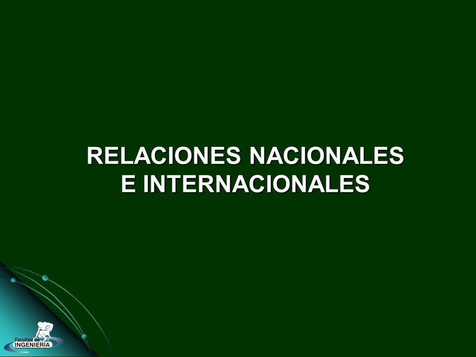 RELACIONES NACIONALES E INTERNACIONALES