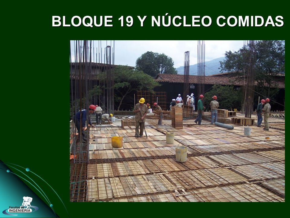 BLOQUE 19 Y NÚCLEO COMIDAS