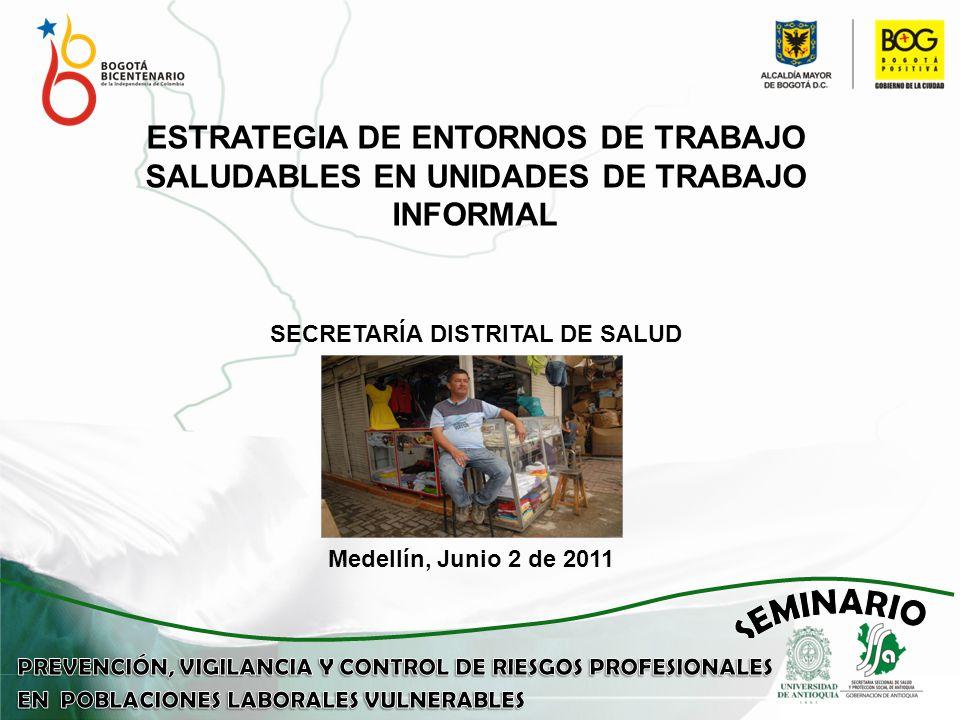 Medellín, Junio 2 de 2011 ESTRATEGIA DE ENTORNOS DE TRABAJO SALUDABLES EN UNIDADES DE TRABAJO INFORMAL SECRETARÍA DISTRITAL DE SALUD