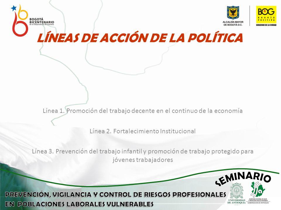 LÍNEAS DE ACCIÓN DE LA POLÍTICA Línea 1.