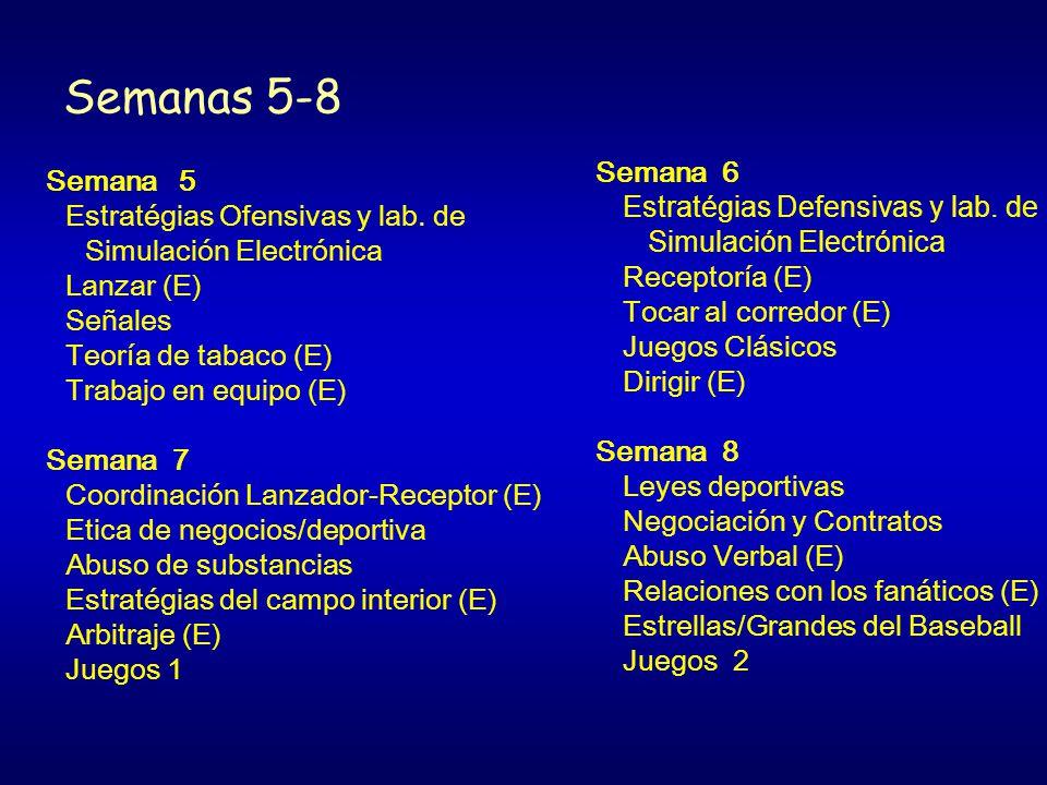 Semanas 5-8 Semana 5 Estratégias Ofensivas y lab.