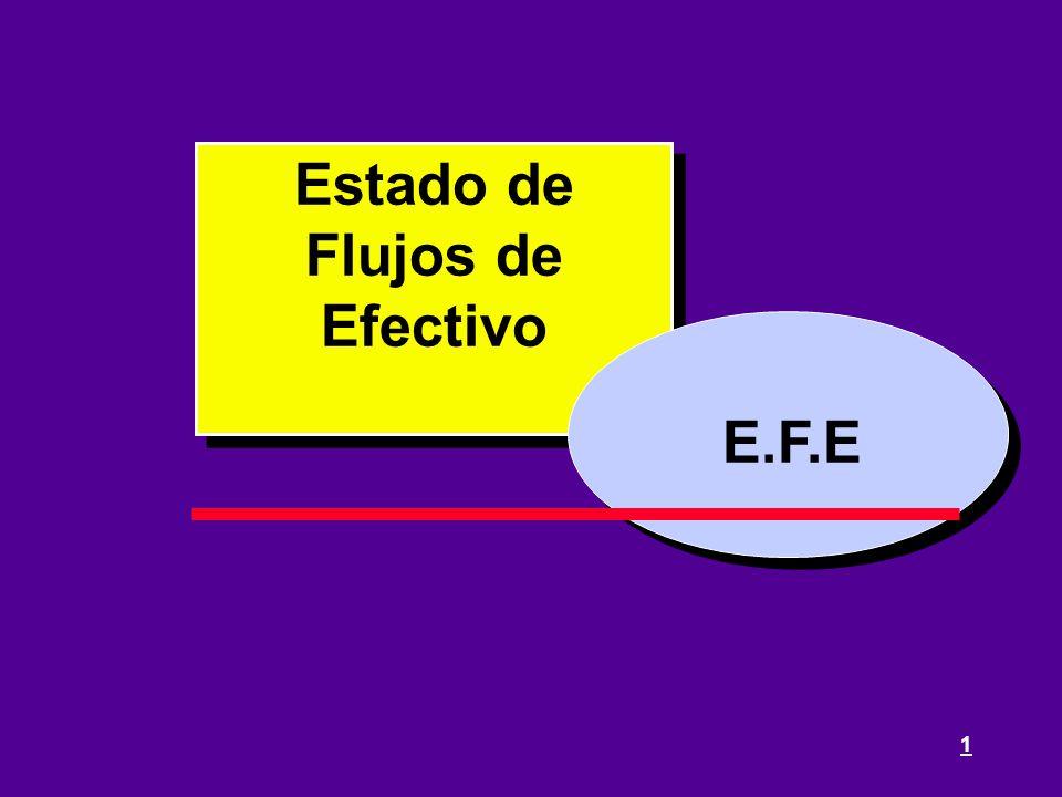 1 E.F.E Estado de Flujos de Efectivo