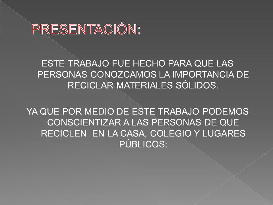 1-LA IMPORTANCIA DE RECICLAR.2-IMÁGENES CONCIENTISIADORAS.