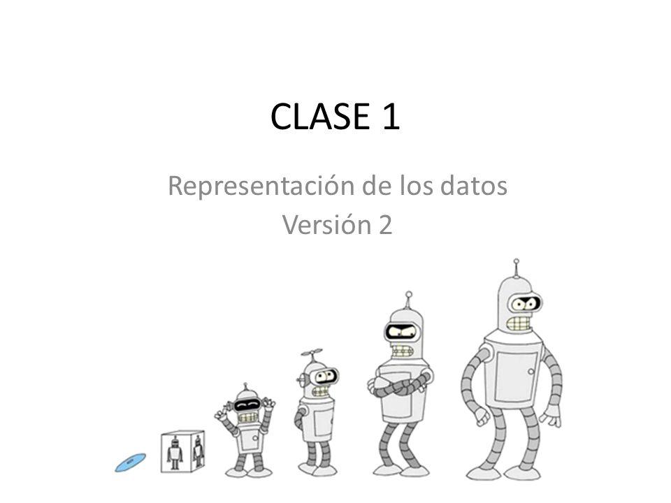 CLASE 1 Representación de los datos Versión 2