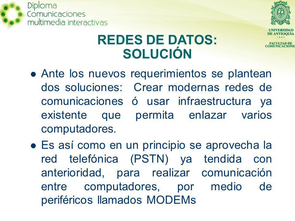 Ante los nuevos requerimientos se plantean dos soluciones: Crear modernas redes de comunicaciones ó usar infraestructura ya existente que permita enlazar varios computadores.