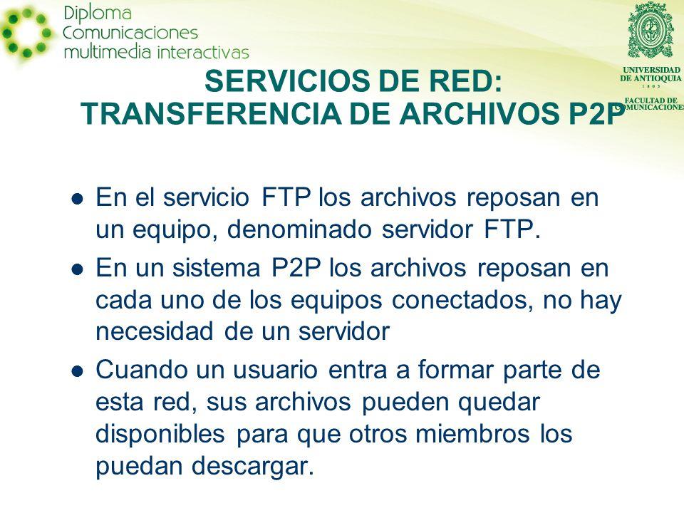 En el servicio FTP los archivos reposan en un equipo, denominado servidor FTP.