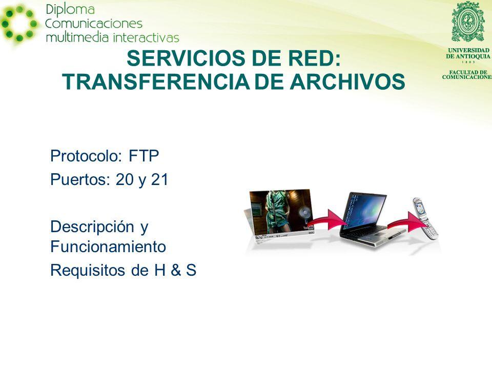 Es un servicio que permite el intercambio de archivos (en grandes cantidades) entre dos equipos conectados a la red.