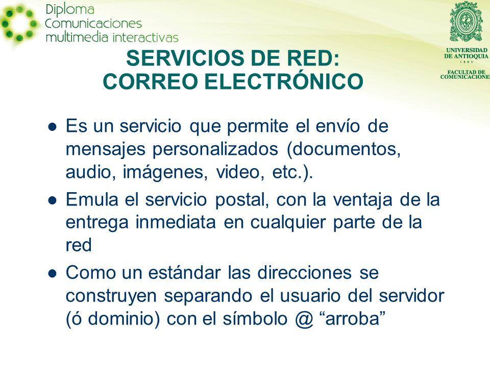 Es un servicio que permite el envío de mensajes personalizados (documentos, audio, imágenes, video, etc.).